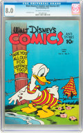 Golden Age (1938-1955):Cartoon Character, Walt Disney's Comics and Stories #21 (Dell, 1942) CGC VF 8.0 Off-white to white pages....