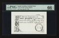 Colonial Notes:South Carolina, 19th Century Reprint South Carolina June 30, 1748 £1 PMG GemUncirculated 66 EPQ.. ...