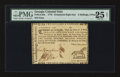 Colonial Notes:Georgia, Georgia 1776 - Ornaments instead of denomination on right 2s 6d PMGVery Fine 25 Net.. ...
