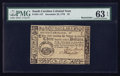 Colonial Notes:South Carolina, South Carolina December 23, 1776 $3 Remainder PMG ChoiceUncirculated 63 EPQ.. ...