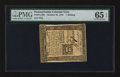 Colonial Notes:Pennsylvania, Pennsylvania October 25, 1775 1s PMG Gem Uncirculated 65 EPQ.. ...