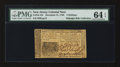 Colonial Notes:New Jersey, New Jersey December 31, 1763 3s PMG Choice Uncirculated 64 EPQ.....