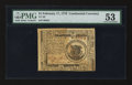 Colonial Notes:Continental Congress Issues, Continental Currency February 17, 1776 $1 PMG About Uncirculated53.. ...