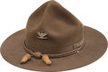 "General Joseph ""Vinegar Joe"" Stilwell's Stetson Campaign Hat With Signed Card From the Navy Relief Fund Auctio..."