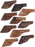 Military & Patriotic:WWI, Lot of Ten Vintage Railway Express Agency (REA) Holsters....(Total: 10 Items)