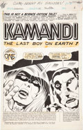 Original Comic Art:Splash Pages, Jack Kirby and D. Bruce Berry Kamandi, the Last Boy on Earth#35 Splash page 1 Original Art (DC, 1975)....