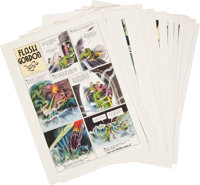 Flash Gordon Syndicate Proof Sheet Group (King Features, 1936-37).... (Total: 50 Items)