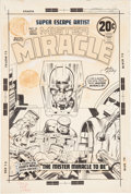 Original Comic Art:Covers, Jack Kirby and Mike Royer Mister Miracle #10 Cover Original Art (DC, 1972)....