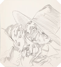 Michael William Kaluta The Private Files of the Shadow Cover Preliminary Sketch Original Art Group (DC, 1989).... (Total...