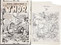 Original Comic Art:Covers, Gil Kane and Frank Giacoia Thor #242 Cover Original Art(Marvel, 1975)....