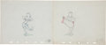 Animation Art:Production Drawing, Diamond Horseshoe Dream Sequence (Bonnie with Towel)Animation Art Group (1945).... (Total: 4 Items)