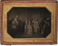 Photography:Ambrotypes, Horizontal Quarter Plate Ambrotype View of an Eighteenth CenturyPainting, Circa 1860....