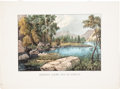 """Antiques:Posters & Prints, """"Looking Down The Yo-Semite"""": A Scarce Currier & Ives California Print. ..."""