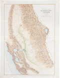 Western Expansion:Goldrush, California Gold Rush: A Large, Hand Colored, 1848-Dated Map. ...