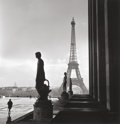 Photographs:20th Century, EDWARD CLARK (American, 1912-2000). Eiffel Tower, Life Magazinecover image, and Notre Dame, circa 1946. Gelatin sil...(Total: 2 Items)