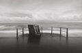 Photographs:20th Century, MICHAEL KENNA (British/American, b. 1953). Deckchairs,Bournemouth, Dorset, England, 1983. Gelatin silver, 1983. 5-7/8x...