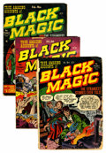 Golden Age (1938-1955):Horror, Black Magic #1-3 Group (Prize, 1950-51).... (Total: 3 Comic Books)