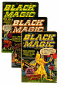 Golden Age (1938-1955):Horror, Black Magic #7-9 Group (Prize, 1951-52).... (Total: 3 Comic Books)