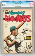 Golden Age (1938-1955):Non-Fiction, The Amazing Willie Mays #nn (Famous Funnies, 1954) CGC VF+ 8.5Off-white pages....