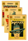 Golden Age (1938-1955):Superhero, The Spirit (weekly newspaper insert) Group (Will Eisner, 1941-42)Condition: VG/FN.... (Total: 16 Comic Books)