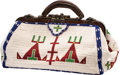 American Indian Art:Beadwork and Quillwork, A SIOUX BEADED HIDE DOCTOR'S BAG. c. 1975...