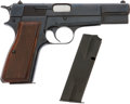 Military & Patriotic:WWII, Browning Hi-Power Cal. 9 mm Automatic Pistol # 76C81749.... (Total: 2 Items)