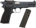 Military & Patriotic:WWII, Browning Hi-Power Cal. 9 mm Automatic Pistol # T215665 with Tangent Sight and Cut for Shoulder Stock.... (Total: 2 Items)