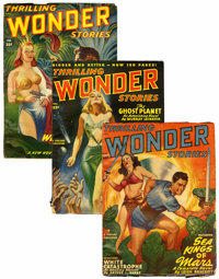 Thrilling Wonder Stories Group (Beacon, 1940-55) Condition: Average VG.... (Total: 54 Items)