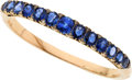 Estate Jewelry:Bracelets, Victorian Sapphire, Diamond, Gold Bangle. ...