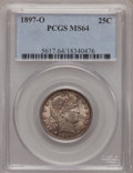 Barber Quarters, 1897-O 25C MS64 PCGS....