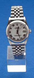 Timepieces:Wristwatch, Rolex Lady's Steel Ref. 2040, 30 mm Oyster Perpetual Datejust,circa 1999. ...