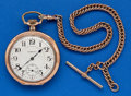 Timepieces:Pocket (post 1900), Hampden 21 Jewel, William McKinley. ...