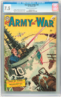 Golden Age (1938-1955):War, Our Army at War #25 (DC, 1954) CGC VF- 7.5 Cream to off-whitepages....
