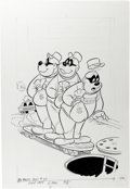 Original Comic Art:Covers, The Beagle Boys #37 Cover Original Art (Gold Key, 1977)....