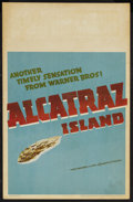 "Movie Posters:Drama, Alcatraz Island (Warner Brothers, 1937). Window Card (14"" X 22""). Crime. Starring Ann Sheridan, Mary Maguire, Dick Purcell, ..."