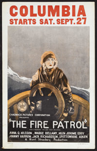 """The Fire Patrol (Chadwick Pictures, 1924). Window Card (14"""" X 22""""). Drama. Starring Anna Q. Nilsson, Madge Bel..."""