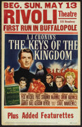 "Movie Posters:Drama, The Keys of the Kingdom (20th Century Fox, 1944). Window Card (14"" X 22""). Drama. Starring Gregory Peck, Thomas Mitchell, Vi..."