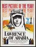 "Movie Posters:Academy Award Winner, Lawrence of Arabia (Columbia, 1962). Window Card (14"" X 22"") Academy Awards Style D. Biographical Adventure. Starring Peter ..."