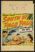 "Movie Posters:Adventure, South of Pago Pago (United Artists, 1940). Window Card (14"" X 22"").Adventure. Starring Victor McLaglen, Jon Hall, Frances F..."