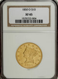 Liberty Eagles, 1850-O $10 XF45 NGC....