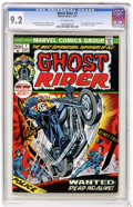 Bronze Age (1970-1979):Horror, Ghost Rider #1 (Marvel, 1973) CGC NM- 9.2 Off-white pages. Gil Kanecover. Tom Sutton art. First appearance of Son of Satan ...