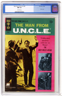 Man from U.N.C.L.E. #20 (Gold Key, 1968) CGC NM 9.4 Off-white pages. Photo cover. Just one other copy of issue #20 has r...