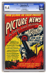 Picture News #1 Carson City pedigree (Lafayette Street Corp., 1946) CGC NM 9.4 Off-white pages. Atom bomb cover and stor...