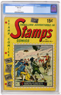 Golden Age (1938-1955):Non-Fiction, Stamps Comics #1 (Youthful Magazines, 1951) CGC FN 6.0 Cream pages.Overstreet 2004 FN 6.0 value = $90. CGC census 2/05: 1 i...