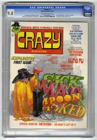 Crazy Magazine #1 (Marvel, 1973) CGC NM/MT 9.8. Kelly Freas and Vaughn Bode cover. Harlan Ellison story. Bode, Mike Ploo...