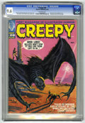 Magazines:Horror, Creepy #28 (Warren, 1969) CGC NM+ 9.6 Off-white pages. Nicola Cuti's first published story. Vampirella teaser ad on last pag...