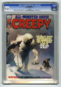 """Magazines:Horror, Creepy #85 (Warren, 1977) CGC NM/MT 9.8 White pages. """"All-Monster"""" issue. Ken Kelly cover. Carmine Infantino and Walt Simons..."""