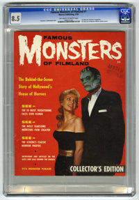 Famous Monsters of Filmland #1 (Warren, 1958) CGC VF+ 8.5 Off-white to white pages. When this first Warren monster magaz...