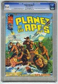 Planet of the Apes #4 (Marvel, 1975) CGC NM 9.4 Off-white to white pages. Bob Larkin cover. Mike Ploog and George Tuska...