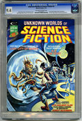 Magazines:Science-Fiction, Unknown Worlds of Science Fiction #4 (Marvel, 1975) CGC NM 9.4Off-white to white pages. Frank Brunner cover. Richard Corben...